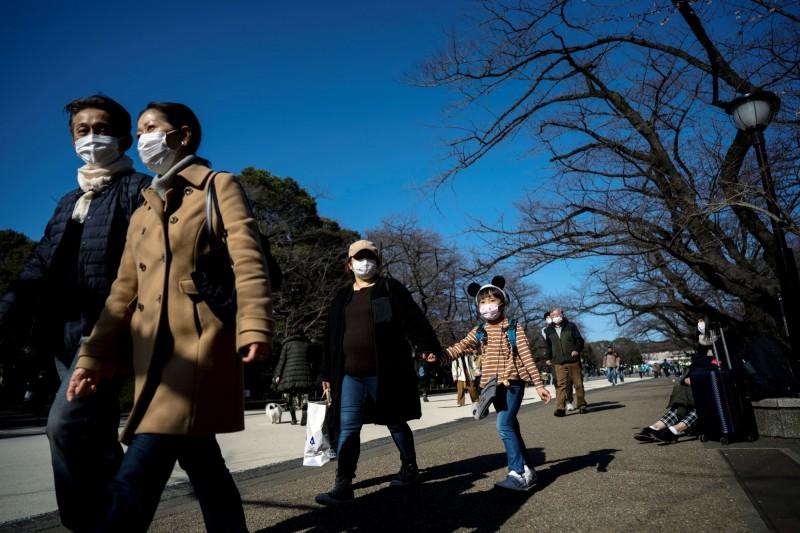 日本的武漢肺炎(COVID-19)疫情持續延燒。(路透)