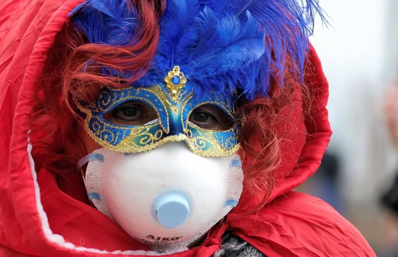 威尼斯市政府宣布取消「面具節」。(路透)
