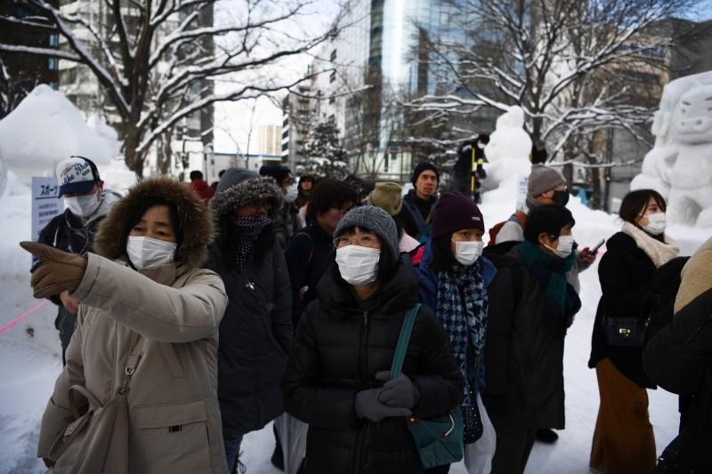 日本的武漢肺炎確診病例不斷上升,已累積超過150例,並有4人死亡。(法新社)