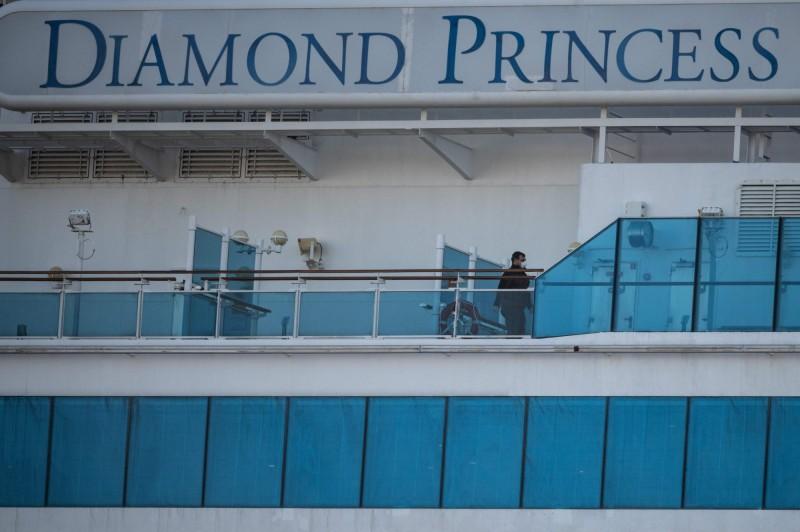 日本鑽石公主號新增1例死亡。(法新社)