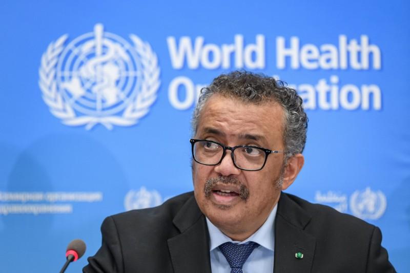 WHO秘書長譚德塞(Tedros Adhanom Ghebreyesus)說,現階段疫情尚未到達全球性傳播的「大流行」標準,現在使用「大流行」一詞不符合事實,肯定會引發恐慌。(法新社)