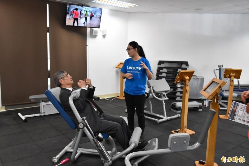 雲科大高齡智慧健康促進中心的運動設備。(記者黃淑莉攝)