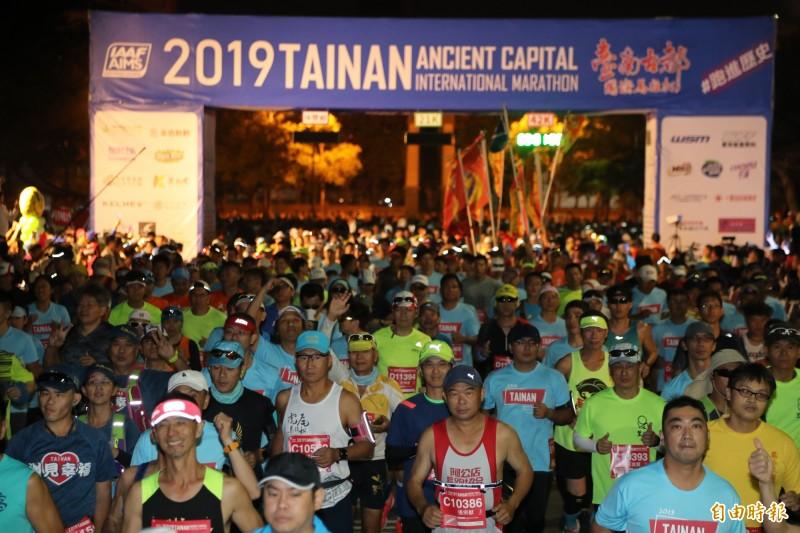 台南市長黃偉哲今午宣布,為確保跑者的健康、維護公眾利益與安全、配合中央防疫決策,2020台南古都半程馬宣布延期。(資料照)