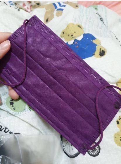 網友戲稱拿到番薯紫口罩。(圖擷自 Dcard)