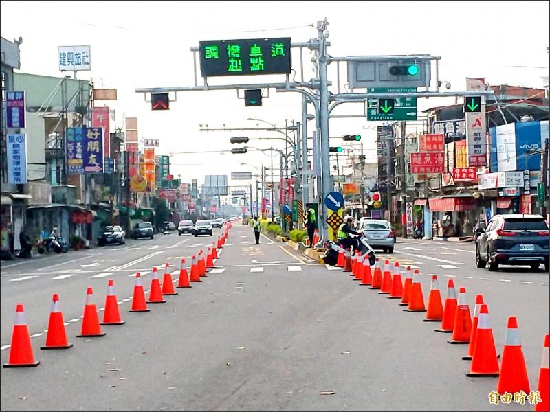 228連假墾丁將湧入5萬以上人潮,警方已規劃調撥車道等措施。(記者蔡宗憲攝)