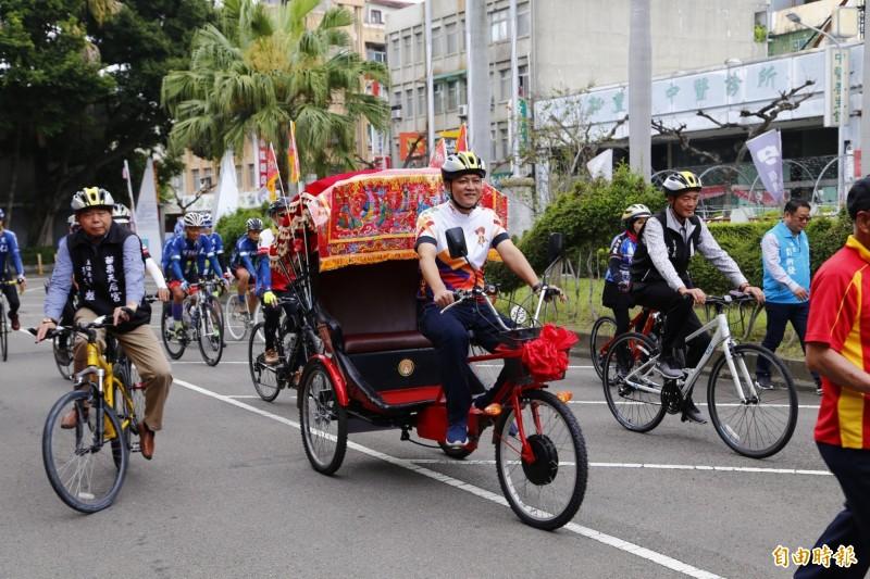 市公所2年前復刻舉辦鐵馬進香活動,連年報名秒殺。(資料照,記者彭健禮攝)