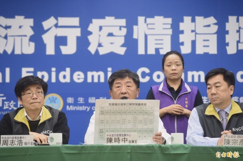 中央流行疫情指揮中心指揮官陳時中今天說明與顏清標的通話內容,並表示感謝宗教界領袖和信眾的智慧。(記者簡榮豐攝)