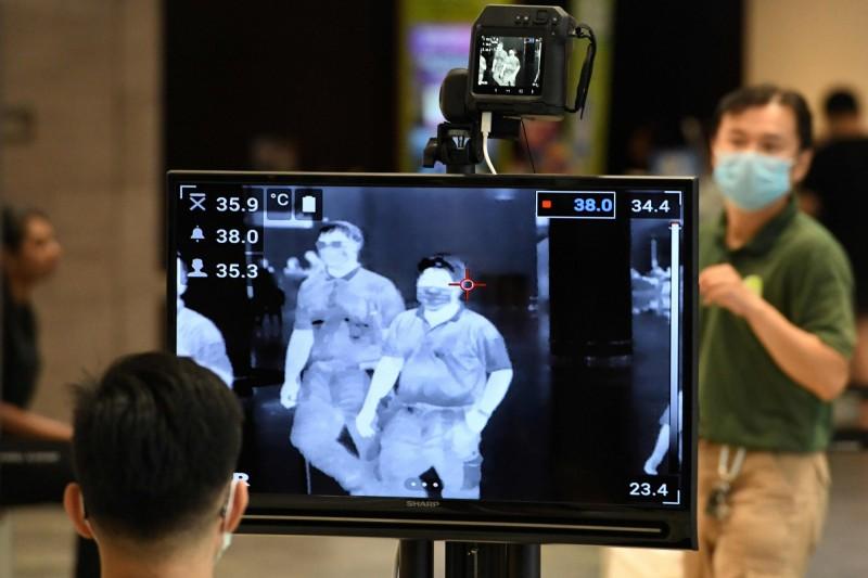 新加坡27日新增3例武漢肺炎(COVID-19)確診病例。(法新社)