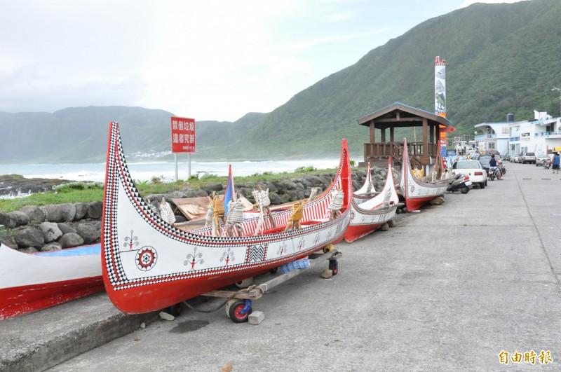 雅美(達悟)族的拼板舟美感特別,是該族具代表性的文化象徵之一。(資料照)