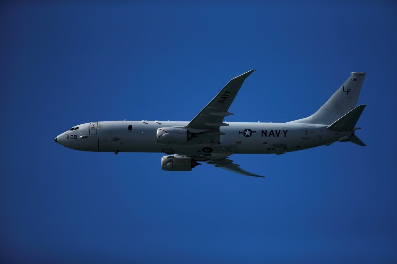 美軍譴責解放軍對軍機發射雷射。(路透)