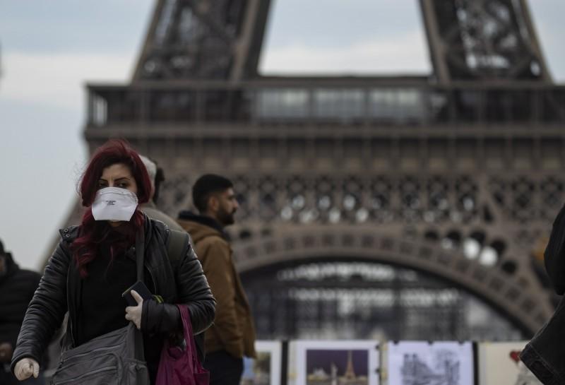 武漢肺炎疫情蔓延全球,近日歐洲確診數連日提升。法國今天增加16例確診,目前全國累計73例。(歐新社)