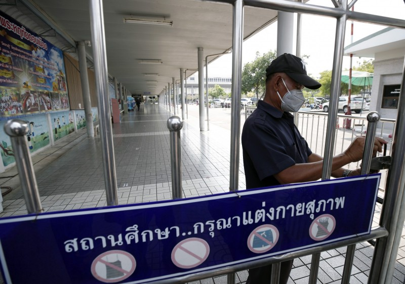 泰國出現首名武漢肺炎不治患者,為35歲的零售業工人。(歐新社)