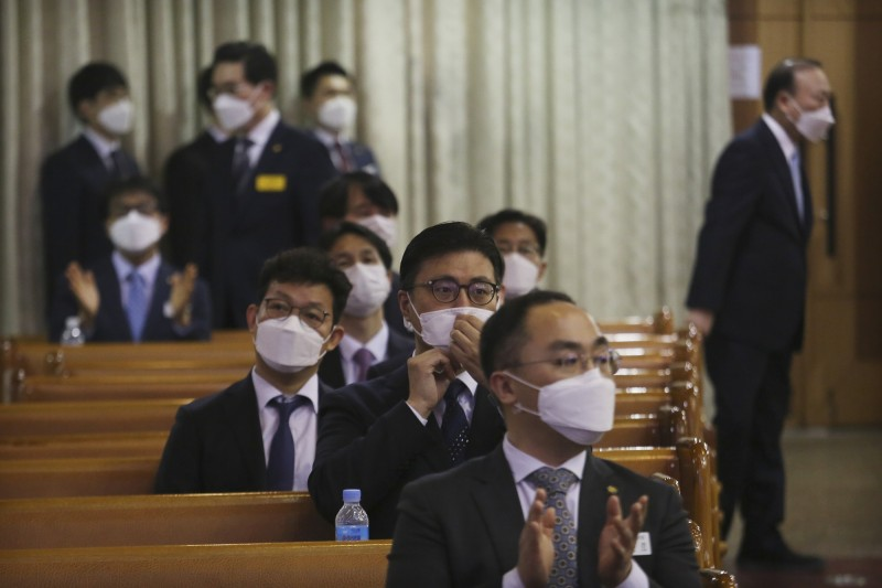 南韓新增一例死亡,累積18例確診死亡。(美聯社)