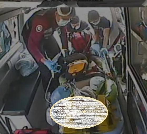 台電工安意外,張男受傷送醫。(記者歐素美翻攝)