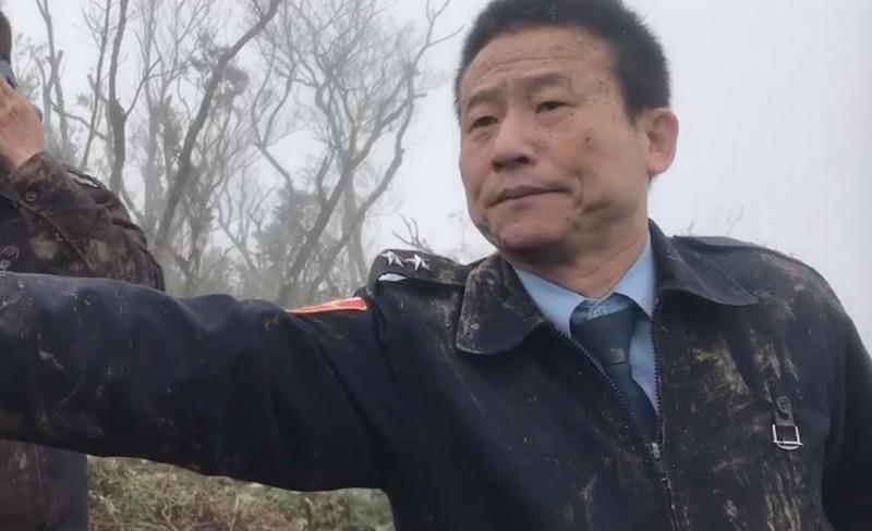 黑鷹失事生還者曹進平中將。(資料照,記者陳薏云翻攝)