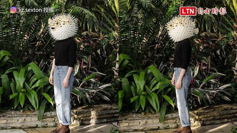 美國藝術家製作超逼真動物面具,希望提醒人們環境問題。(圖片由Liz Sexton授權提供使用)