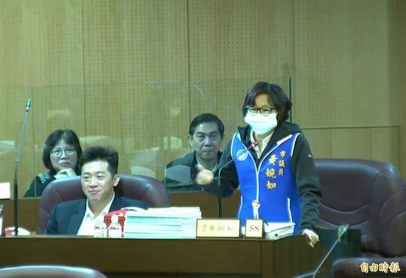 桃園市議會通過議員黃婉如建議,開會必須戴口罩。(記者謝武雄攝)