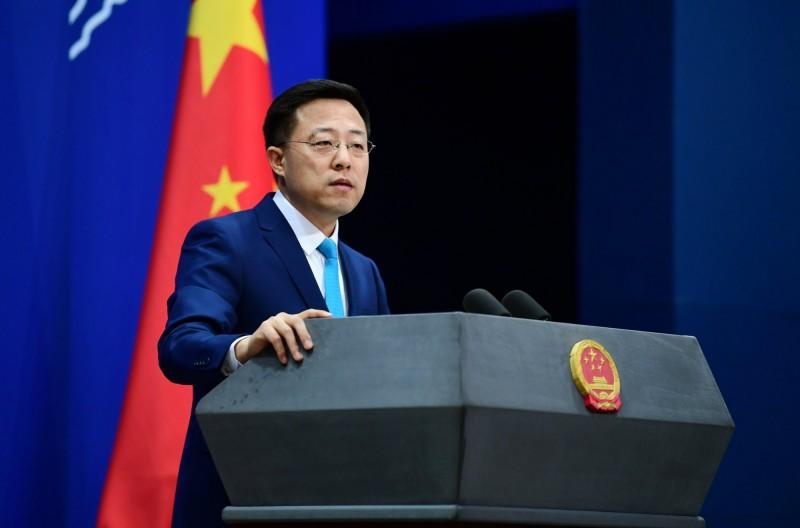 趙立堅今回覆台灣外交部,批評民進黨令人不齒。(圖取自趙立堅推特)