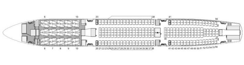 長榮航空A330-300機型座位圖。(圖由長榮航空提供)
