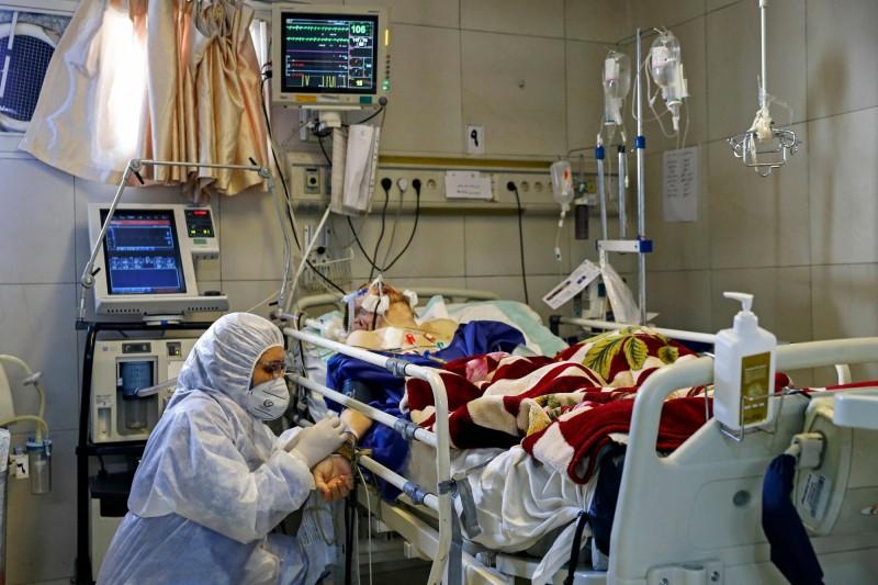 伊朗武漢肺炎疫情今新增591例確診、15例死亡。(法新社)