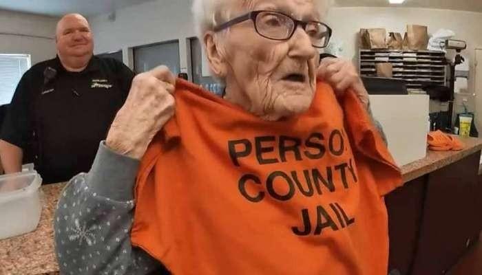 歡度100歲生日的露絲對「入獄」興奮不已。(圖擷取自網路)