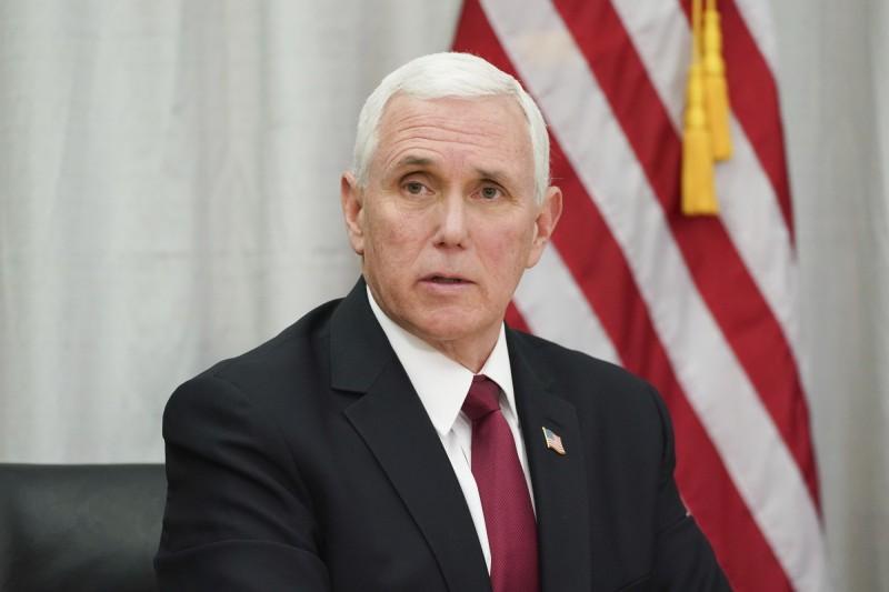 擔任防疫指揮官的美國副總統彭斯(Mike Pence)。(美聯社)