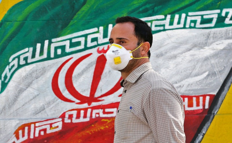 伊朗今日新增1234例武漢肺炎確診病例,為該國單日最高新增數量。(法新社)