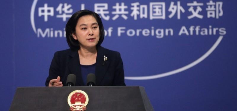 中國外交部發言人華春瑩(見圖)之夫6日在北京辭世,享年55歲。(歐新社檔案照)