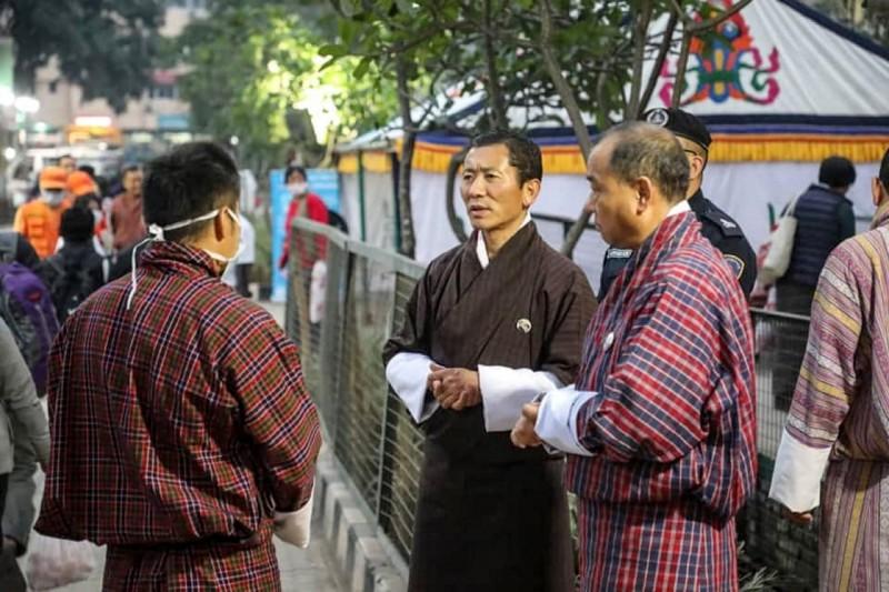 不丹今日宣布首例武漢肺炎確診病例。圖中為不丹總理希林(Lotay Tshering)。(法新社)