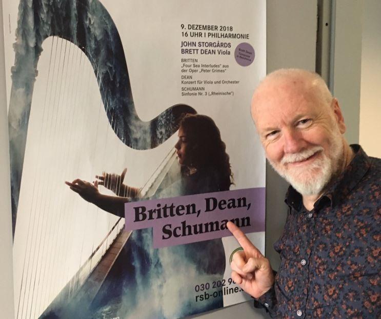 澳洲音樂家狄恩(Brett Dean)曾在2月28日在台北國家音樂廳、3月1日在台北國家演奏廳參與演出,於返回澳洲後確診武漢肺炎,已在當地接受隔離治療。(擷取自Brett Dean推特)