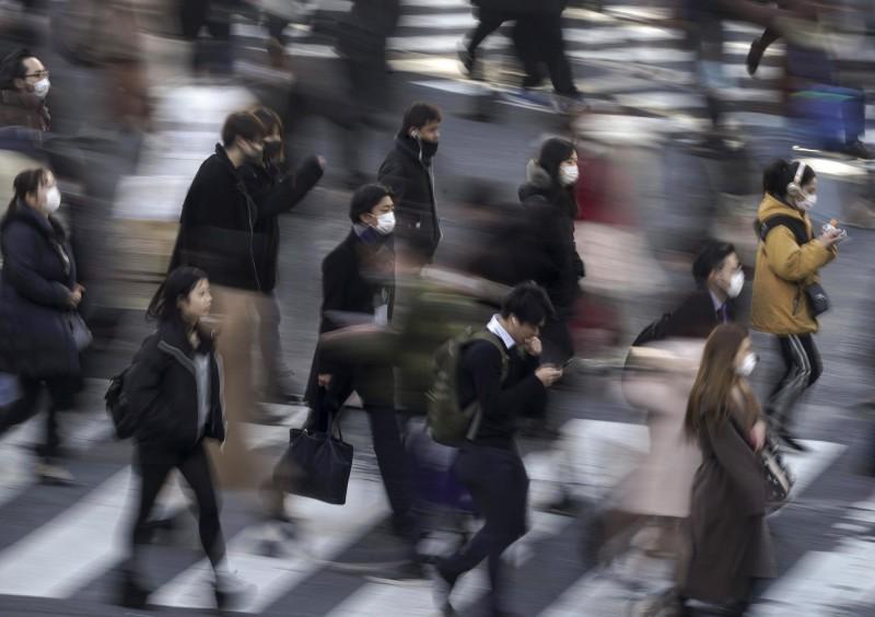 新型冠狀病毒疫情在日本持續擴大,廣島也傳出首例確診。(歐新社)
