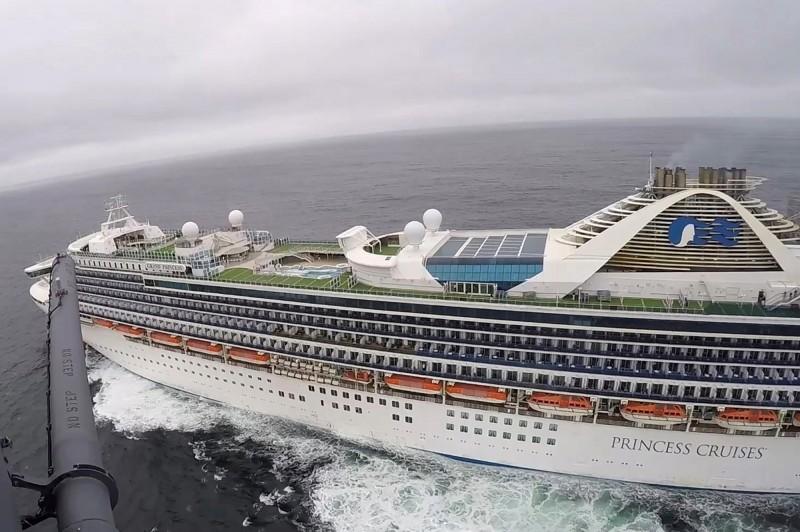 美國夏威夷今日傳出武漢肺炎首例確診,患者曾搭乘停泊在舊金山外海的「至尊公主號」郵輪。(路透)