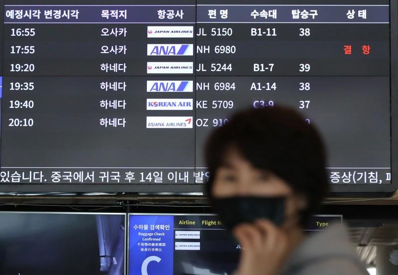 日韓兩國相互祭出入境管制,WHO緊急計畫負責人萊恩(Mike Ryan)認為,日韓雙方的舉動是「政治之爭」,無助於病毒傳播。(法新社)