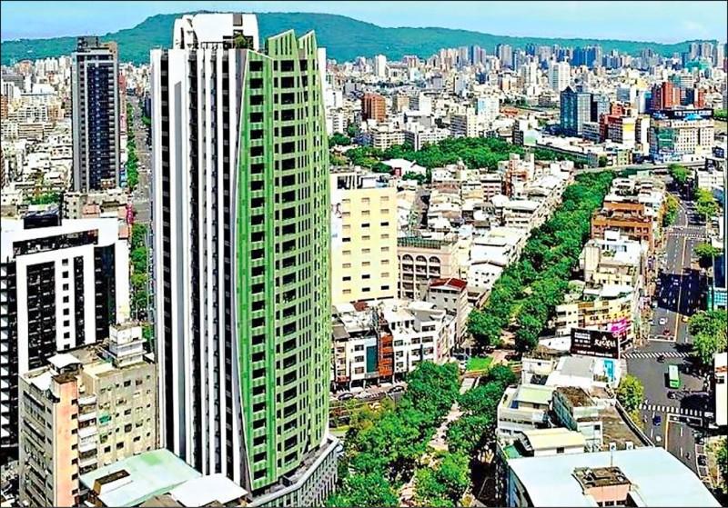 高雄市第一個都市更新建案「京城逸文苑」,已完工開賣。 (京城建設提供)