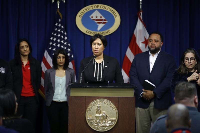 美國華盛頓特區市長鮑賽宣布出現首例武漢肺炎確診病例。(美聯社)