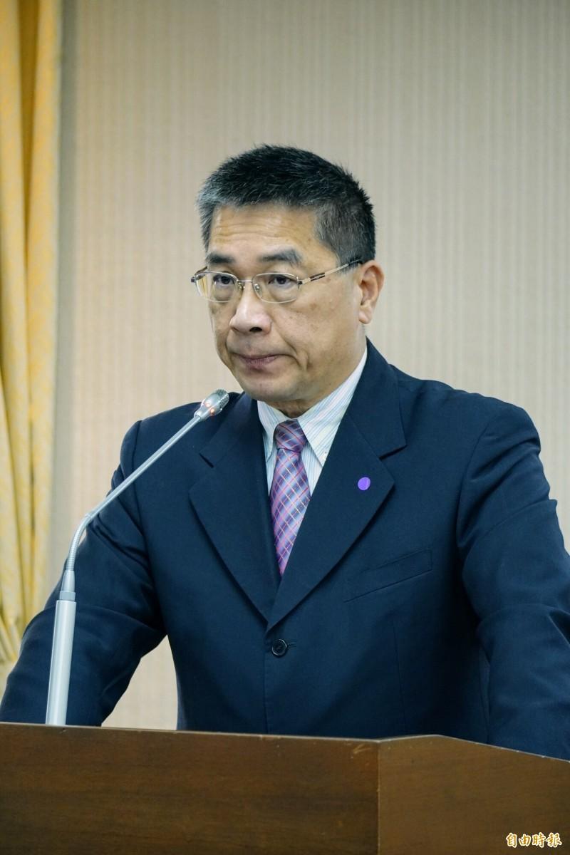 內政部長徐國勇。(記者涂鉅旻攝)