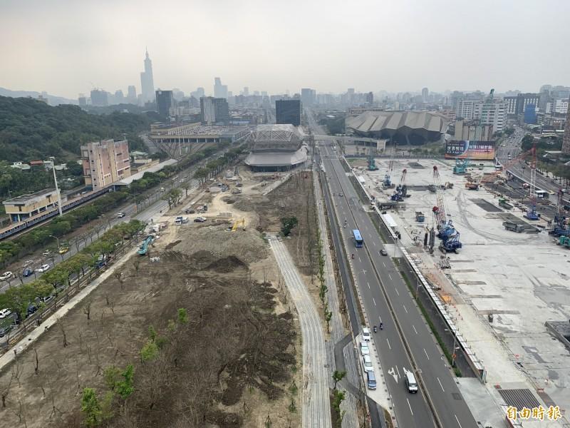 都發局將於南港車站旁規劃800公尺生態綠廊。(記者郭安家攝)
