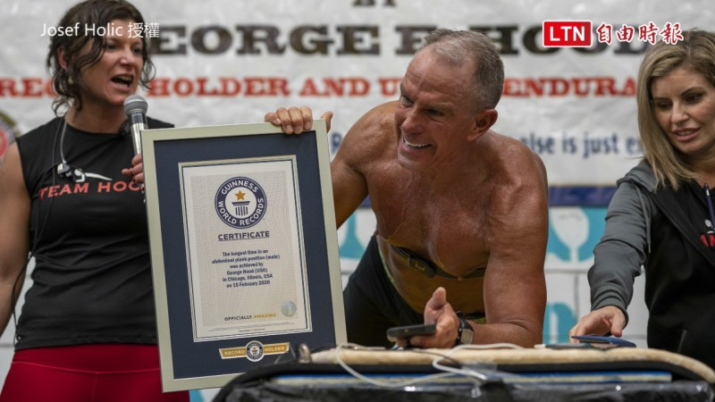George E. Hood打破金氏世界紀錄,成為做平板支撐最久的人。(Josef Holic授權)