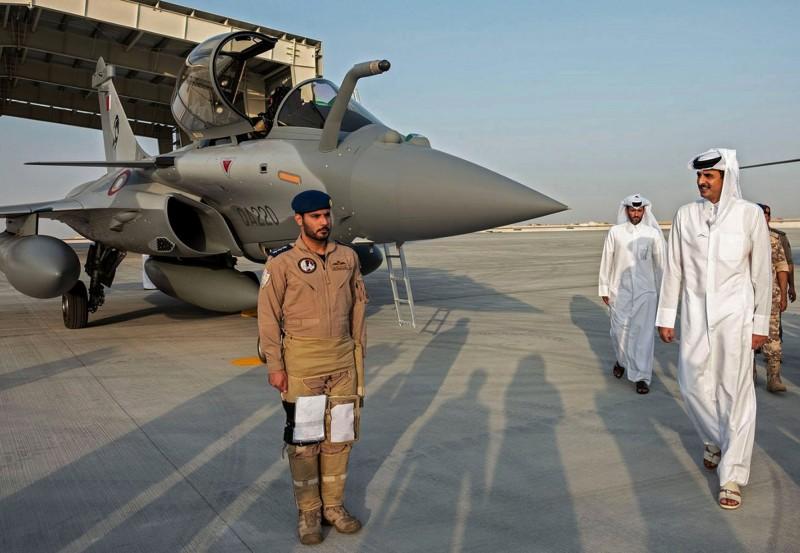 法國軍武出口量則是達到1990年以來最高水準,受惠於埃及、卡達及印度的武器需求。圖為卡達皇家空軍所使用的法國疾風戰鬥機。(法新社)