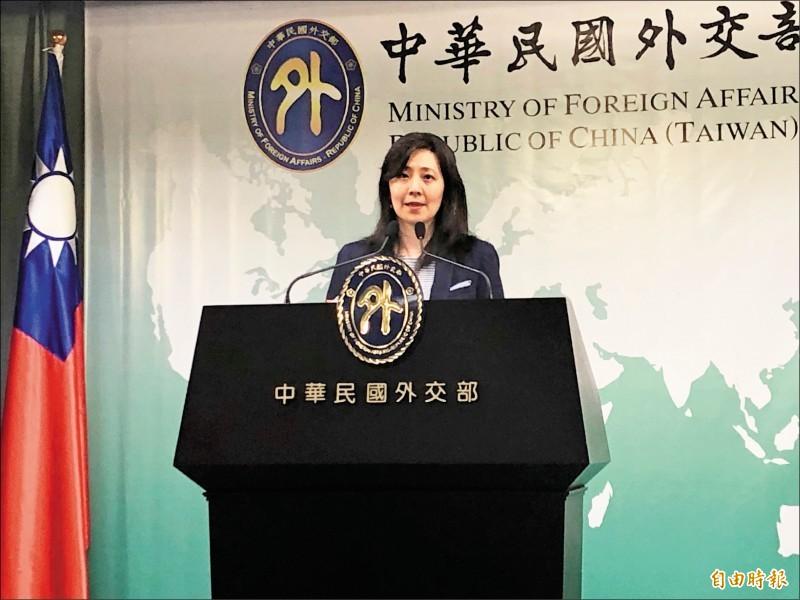 外交部發言人歐江安。(資料照)