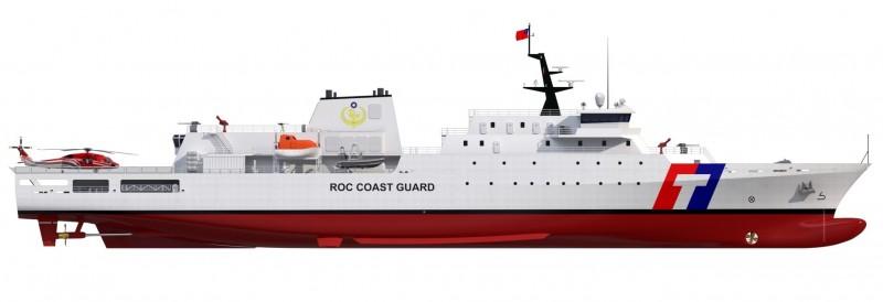 第2艘4000噸級巡防艦模型圖。(記者洪定宏翻攝)