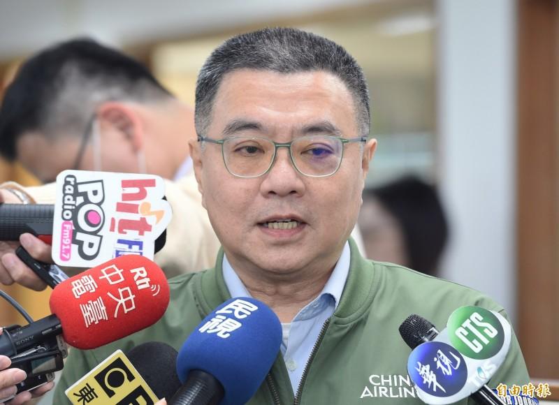 民進黨主席卓榮泰11日出席主持中常會。(記者廖振輝攝)