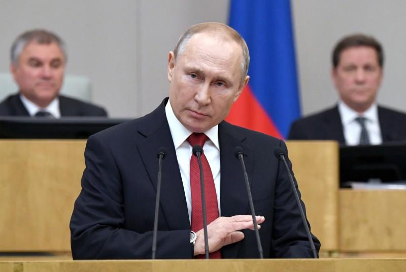 俄羅斯國會三讀通過憲法修正案,將讓總統普廷在目前任期於2024年屆滿後,可再繼續掌權12年。(美聯社)