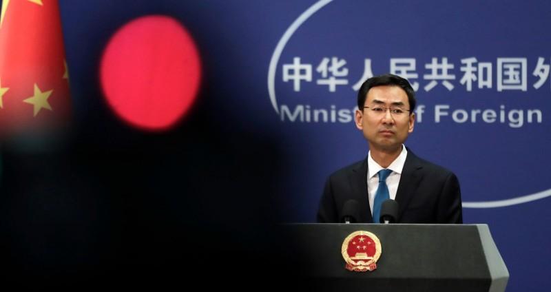 耿爽重申,新型冠狀病毒發源地議題屬於科學問題,中國在疫情爆發後有盡到責任。(美聯社檔案照)