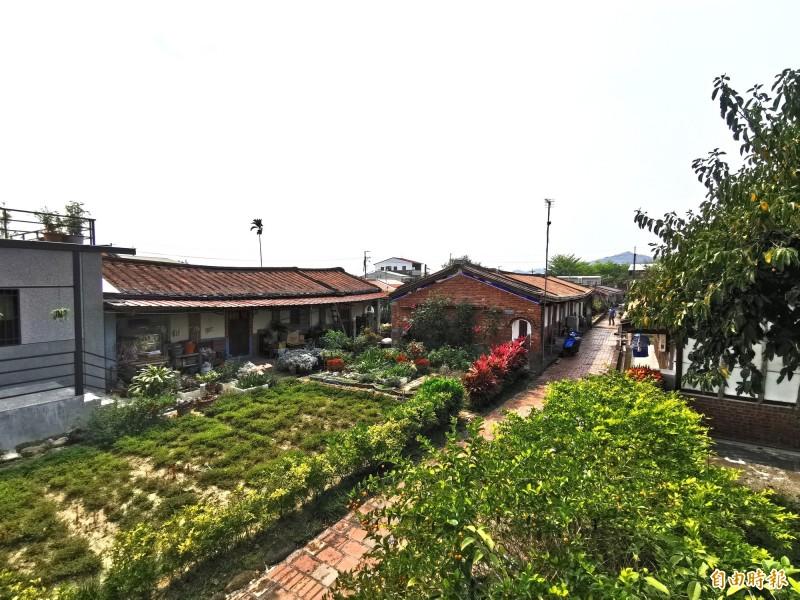 楠西江家古厝被台南市府列為歷史聚落建築群。(記者吳俊鋒攝)