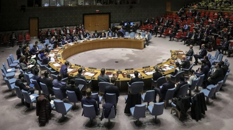 菲律賓駐聯合國使團1名女外交官確診武漢肺炎,她曾在聯合國總部大樓內待了半小時左右。聯合國開會示意圖。(美聯社)