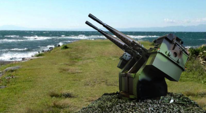 中科院研製的近程自動化防禦武器系統,首套將部署在東引。系統的主要武器是國造T75-20機砲,分為單管式的XTR-101型及雙管式的XTR-102型,操控人員可在安全的掩體內以遠距方式操控,減少人員傷亡。圖為雙管式的XTR-102型機砲。 (圖:取自中科院網站)