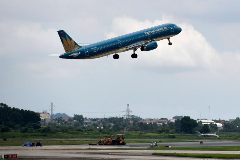圖為越南河內內排國際機場一景。(法新社)