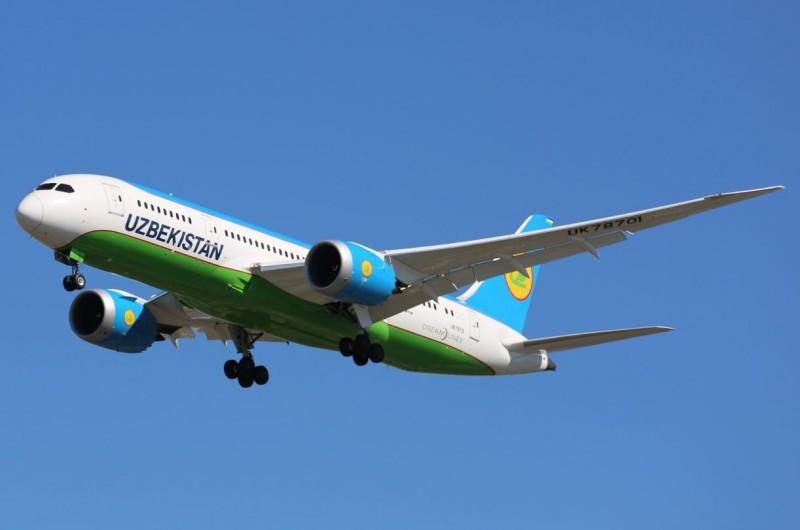 烏茲別克今日出現首例確診,烏茲別克航空也宣布將暫停飛往西歐、亞洲和中東多座城市的航班。(圖擷自推特)