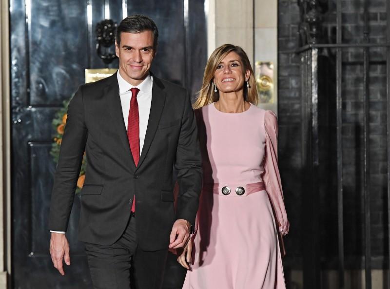 西班牙總理辦公室指出,第一夫人戈梅茲(Begona Gomez)確診感染武漢肺炎,不過目前總理夫婦狀況良好。(歐新社)